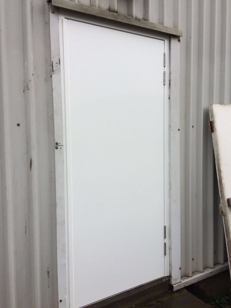 An outside view of our RSG8100 fire exit door securing an industrial estate in Croydon. & 63 best Steel Security Doors images on Pinterest | Steel security ... Pezcame.Com