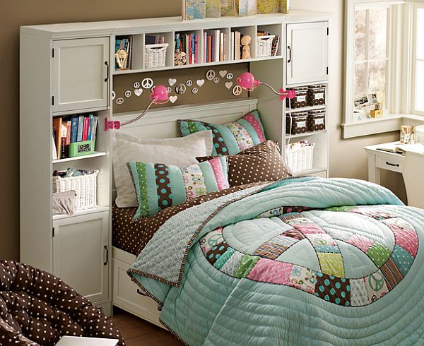 Cabinets teenage girls bedroom ideas. Great idea for the girls when they're older :)