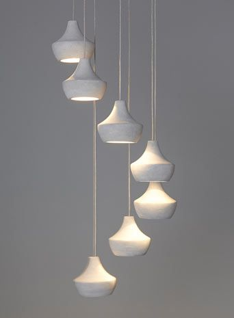 BHS // Illuminate // Mabel 7 Light Cluster // Concrete cluster ceiling light