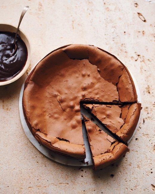flourless chocolate espresso cake.