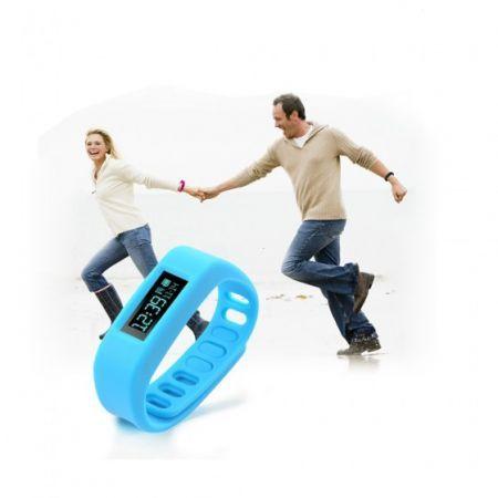 SH01-4.0 USB Powered Bluetooth V4.0 Smart Wrist Band Bracelet w/ Sleep Monitoring - Blue