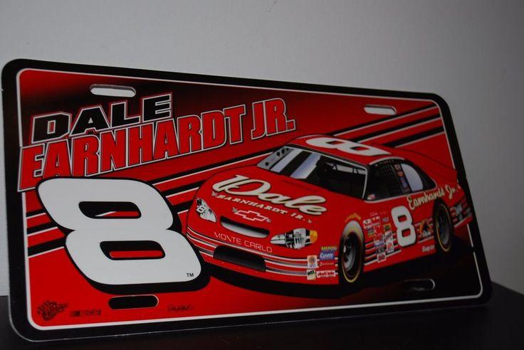 Dale Earnhardt Jr Nascar Car License Plate 8 Red Monte Carlo Plates
