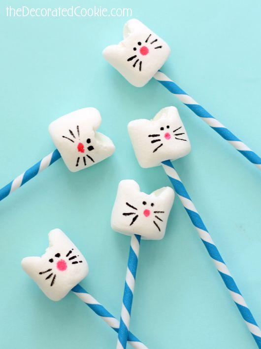 simple kitty cat marshmallows