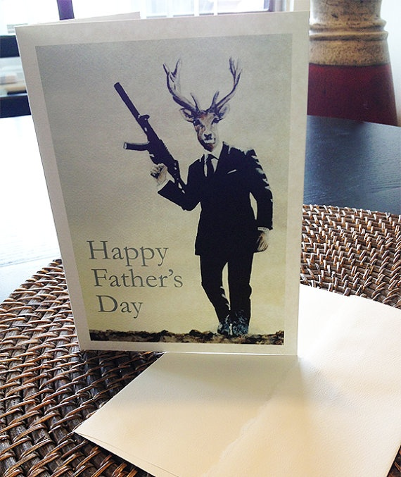 James Bond Quantum of Solace Parody Father's Day Blank Card on Etsy, $4.00 CAD