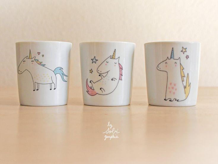 cup Unicorn di Sobigraphie su Etsy