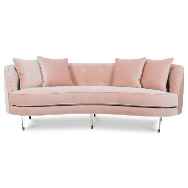 st tropez 2 petite curved sofa in velvet in 2019 marion pastel rh pinterest com