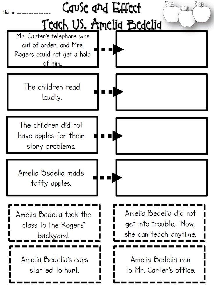 Amelia Bedelia Cause and Effect.pdf Education stuff