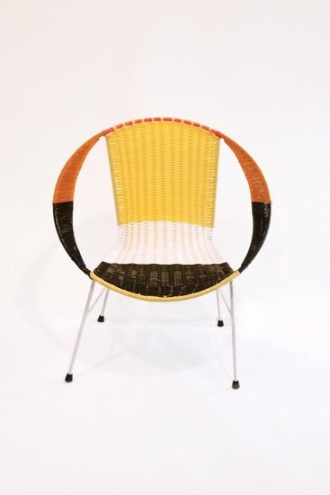 Love that Marni did this.  Also loving the retro 70's chairs. Colombian ex-prisoners make chairs for Marni.