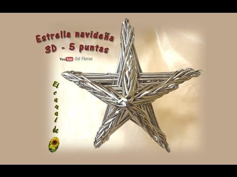Estrella 3D de seis puntas con papel periódico - 3D Star six-pointed with newspaper - YouTube