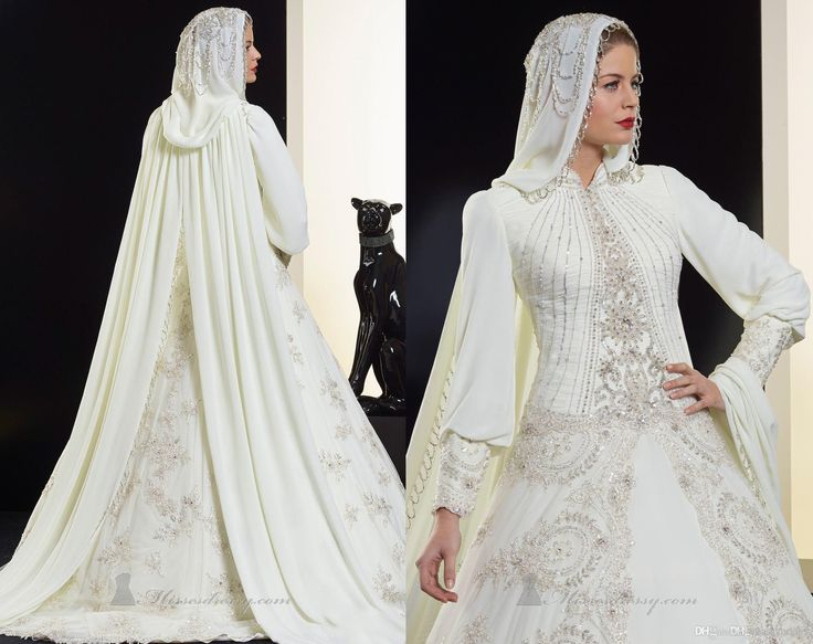 2014 Saudi Arabia Muslim Long Sleeve Wedding Dress A-Line Wedding Dresses | Buy Wholesale On Line Direct from China