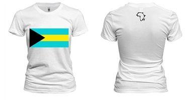Women's Bahamas Flag T-Shirt
