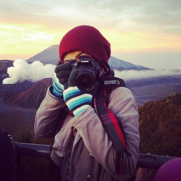 "Photography is other world for save your memories and moment.  This image was taken by my friend. We're travel to Bromo mountainous for ""spending time"" holiday. I like mountain. Climb and tracking make me streght more. #Bromo #Mountain #Indonesia ♥"