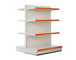High and low gondola shelving for supermarkets, retail stores and convenience stores