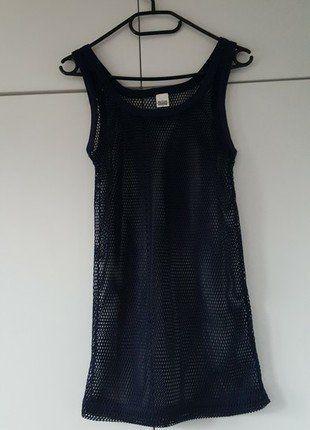 Kup mój przedmiot na #vintedpl http://www.vinted.pl/damska-odziez/koszulki-na-ramiaczkach-koszulki-bez-rekawow/17066217-tank-top-siatka-nowy-grunge-style-granatowy
