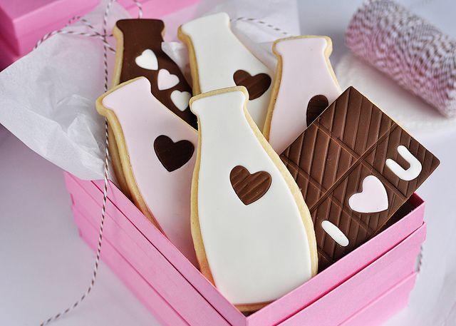 Milk bottle cookies