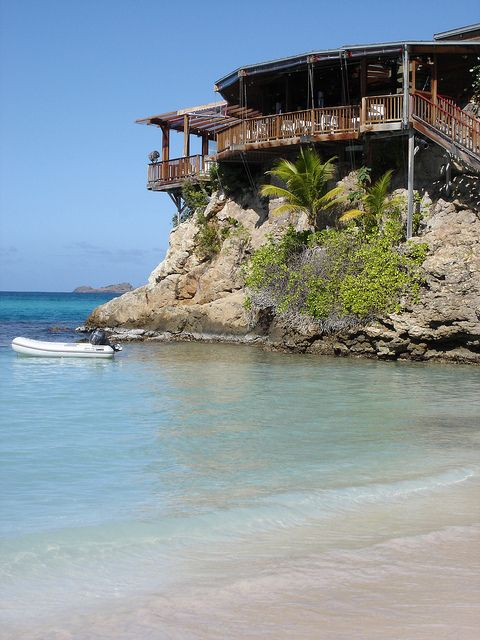 Eden Rock Hotel in St. Bart's Island...would love to stay here. I did see it it's beautiful !!