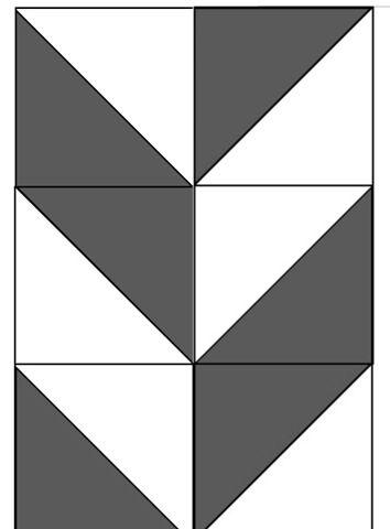 herringbone using half square triangles