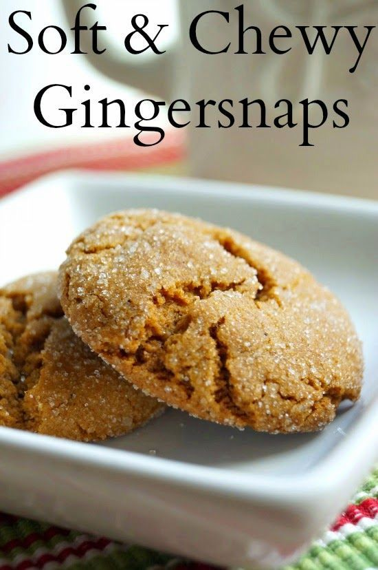 The best recipe for Gingersnaps! These are so soft and chewy! My family makes them every year!