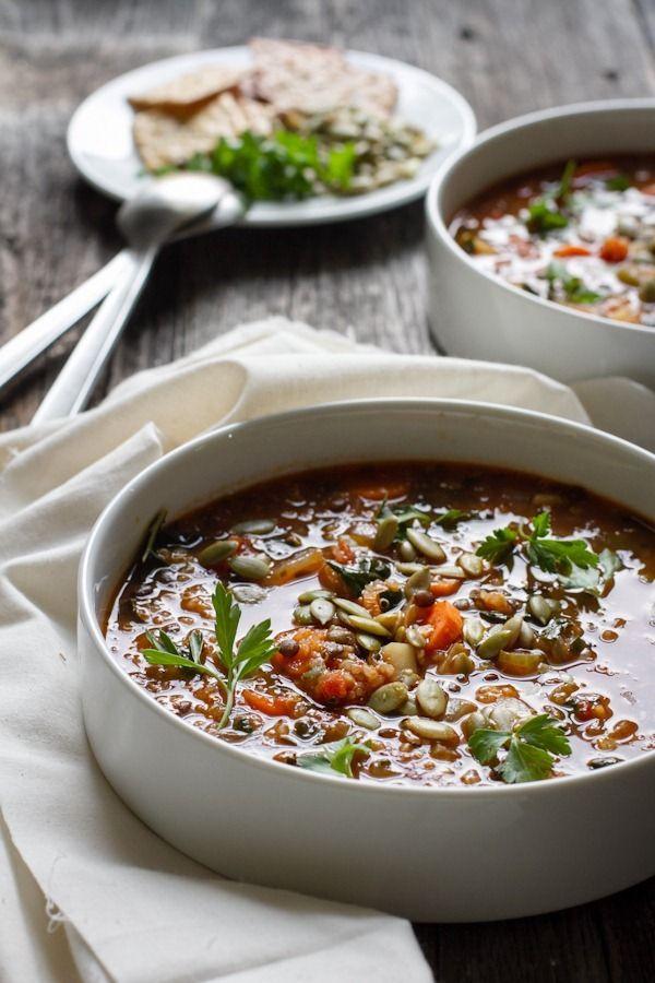 Quinoa Lentil Vegetable Soup   Edible Perspective