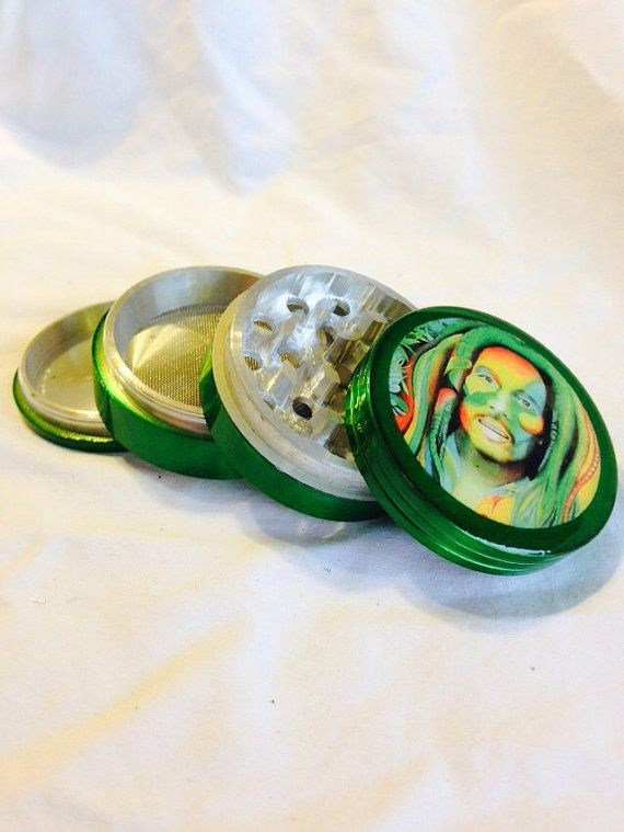 Aluminum tobacco, herb, spice, weed grinder Rainbow Marley