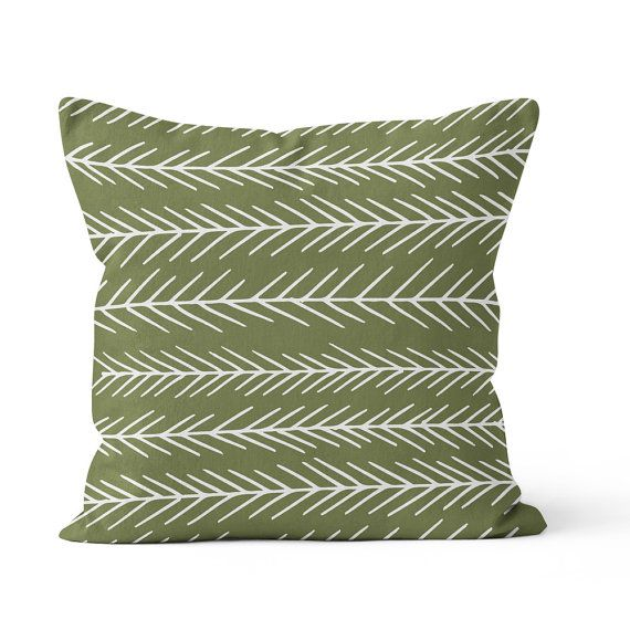 Pine tree pillow cover cedar green pillow forest by RiverOakStudio