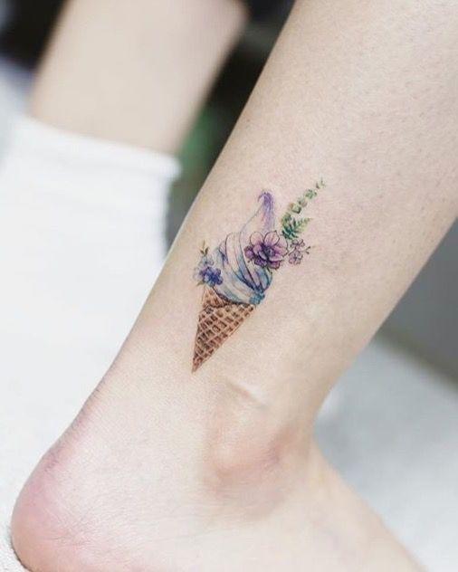 Tattooist Flower ice cream tattoo