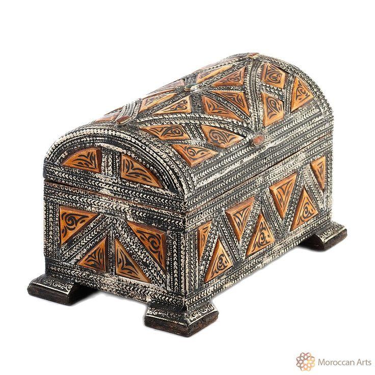 Bone jewelry box Sable - Wood Henna Color