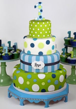 First boy birthday cake. See more first boy birthday cakes and party ideas at one-stop-party-ideas.com