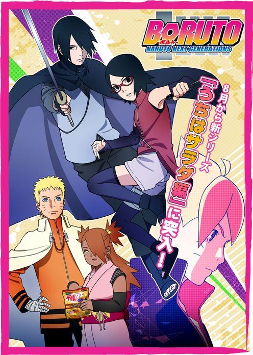 Mediante su twitter la cuenta de Naruto & Boruto, había notificado que iba actualizar la información de la página oficial de Tv Tokyo de Boruto a las 10:00 hora Japón, y lo ha hecho actualizándolo con la información de la animación de Naruto Gaiden: El séptimo Hokage y la primavera escarlata...