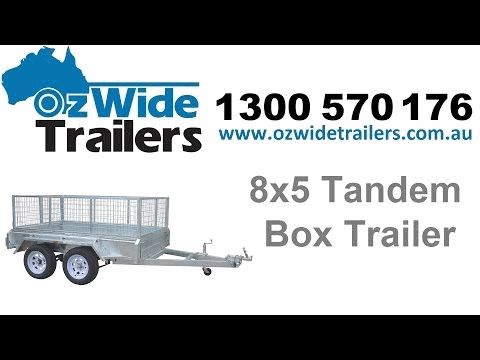 8x5 Tandem Box Trailer - Oz Wide Trailers