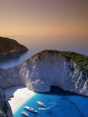 Aerial View of Smuggler Beach in Zakynthos, Greece Other