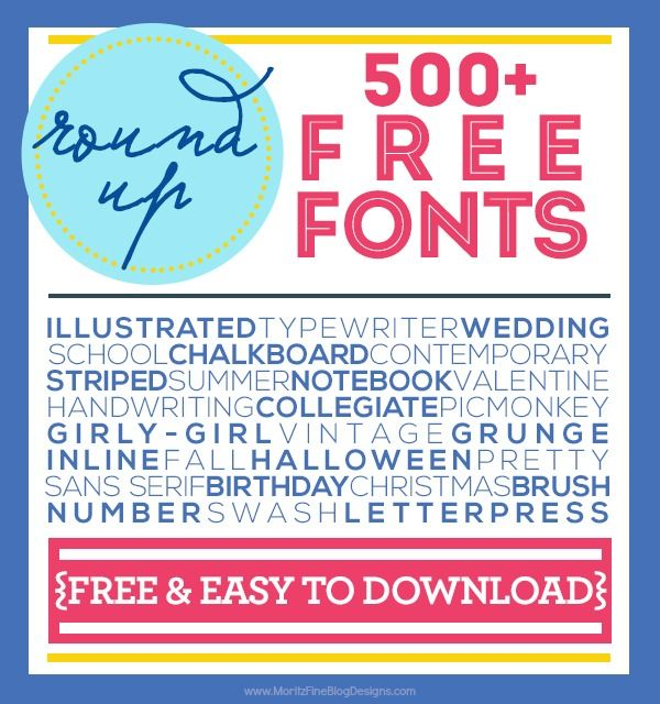 Love free fonts? Then you'll love our collection of over 500+ free fonts that are all free & easy to download. Tons of styles perfect for all your crafting and design needs!