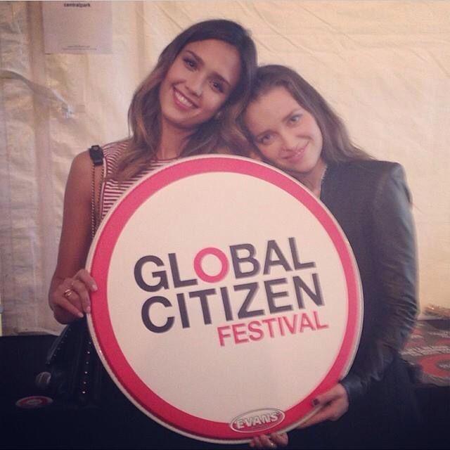 Jessica Alba at Global Citizen 2014