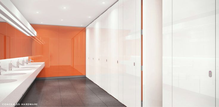 Concealed Hardware toilet partitions.... exciting!