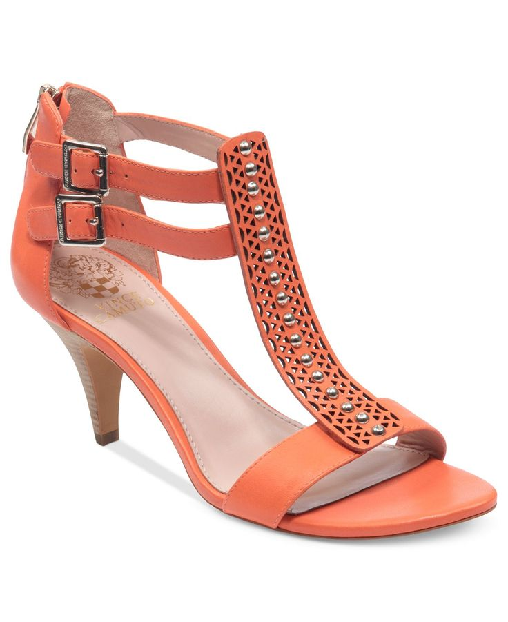 Vince Camuto Shoes, Mayler Mid Heel T-Strap Sandals - All Women's Shoes - Shoes - Macy's
