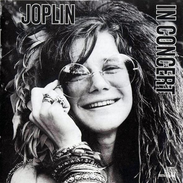 In Concert by Janis Joplin (1972) | Community Post: 42 Classic Black And White Album Covers