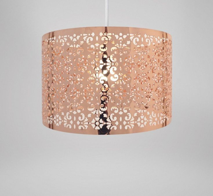 Country Club Easy Fit 29cm Moroccan Ceiling Light Shade, Copper - Online Kitchenware
