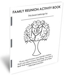 I like the quote on the front of this book....family reunion planning