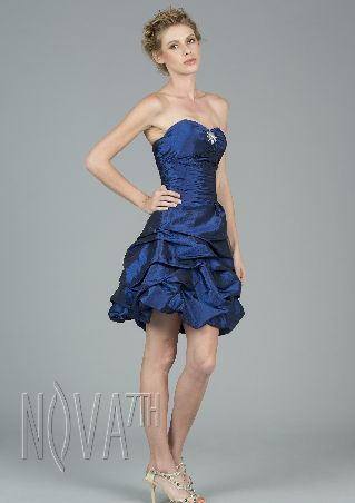 Beautiful Blue One-Shoulder Sleeveless Tiered