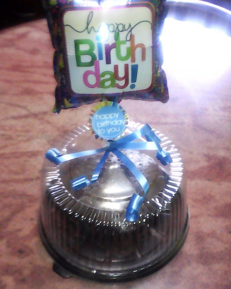 Envase decorada para torta