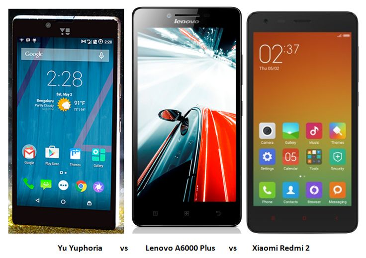 Yu Yuphoria vs Lenovo A6000 Plus vs Xiaomi Redmi 2: Comparison With Video