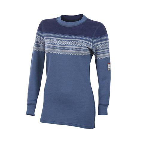 Aclima Designwool Marius trøye/ patriot blue   damemodell