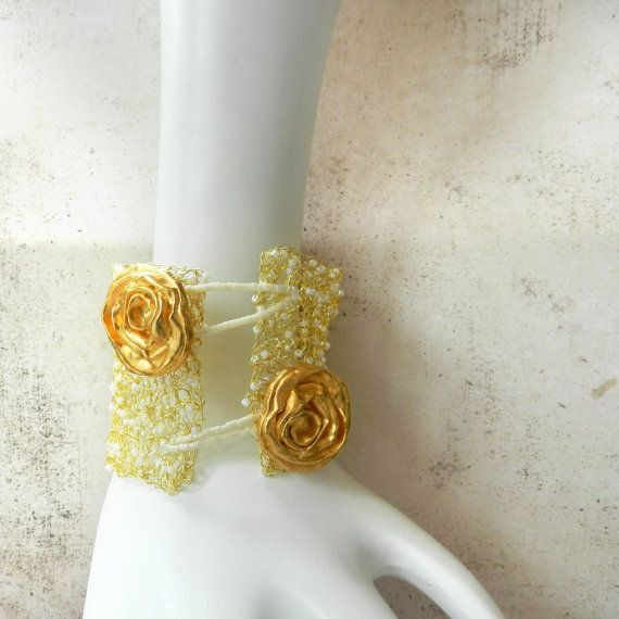Knitting With Metal Wire : Images about jewelry wire crochet knit on