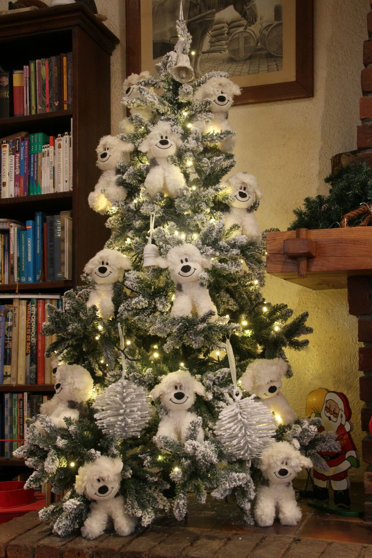 Our special Old English Sheepdog Christmas tree.
