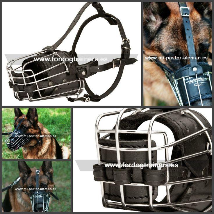 #Bozal de cuero y metal, de gran calidad y durabilidad, recomendado para #adiestramiento canino de guardia y protección, visitas al veterinario, viajes y paseos diarios. Ref.: M90. Precio: 34.70 euros.   #bozales_de_cuero_para_perros #bozales_de_metal_para_perros #bozal_metalico_para_perros #bozales_de_cuero_para_pastor_aleman #adiestramiento_canino_guardia_y_protección #adiestramiento_canino #bozales_de_adiestramiento_para_perros #bozales_para_adiestrar_perros #fordogtrainers_españa