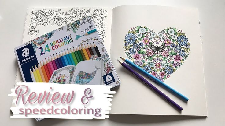 Ivy and the Inky Butterfly speed coloring & Staedtler Ergosoft review