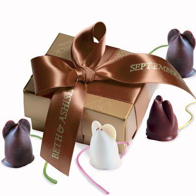 Burdick Chocolate: Mice Favors///so adorable, so delicious///www.annmeyersignatureevents