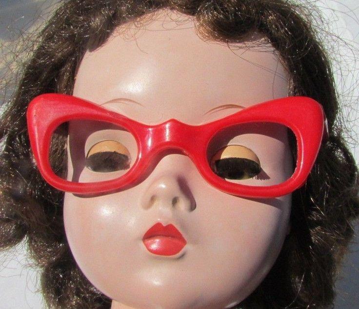 Madame Alexander Cissy Doll Red Cat Eye Glasses Original France Depose Marked #MadameAlexander #ClothingAccessories