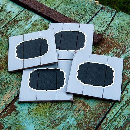 Distressed Coasters ~ Grey
