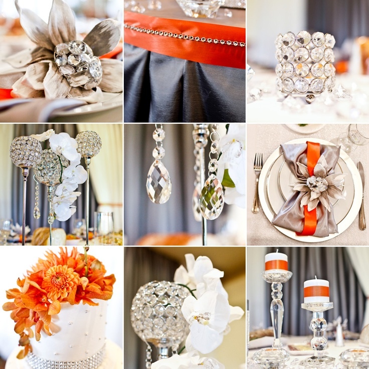 35 best Grey & Burnt Orange Wedding images on Pinterest